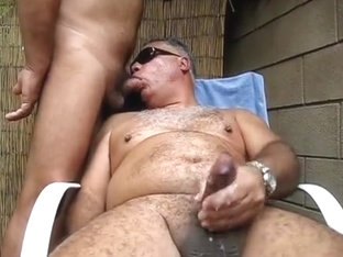 Backyard blow job - From the Vault