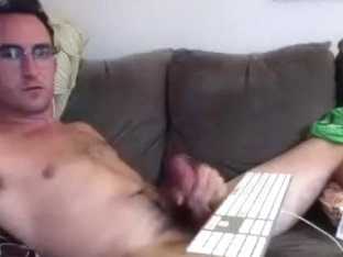 Naughty homosexual is playing in the apartment and filming himself on web camera