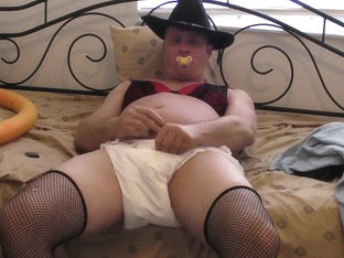 Sissy crossdressing cowboy anal stretching
