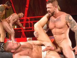 Clusterfuck! 2 XXX Video: Hunter Marx, Boomer Banks, Billy Santoro, Rocco Steele
