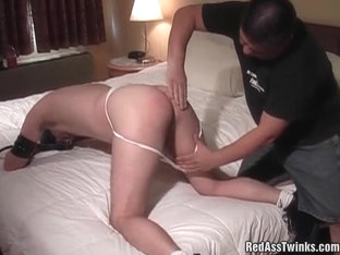 Innocent gay guy gets spanked