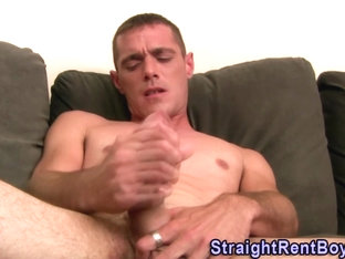 Straight stud shoots cum