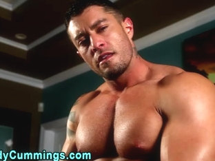 Cody Cummings cums using toy