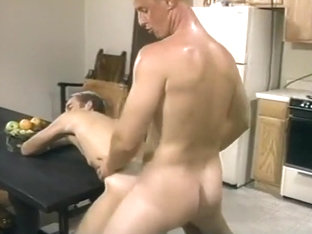 Lewd Guys Fucking In The Kitchen
