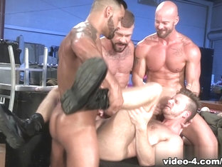Mitch Vaughn & Brian Bonds & David Benjamin & Rocco Steele in Guard Patrol Video