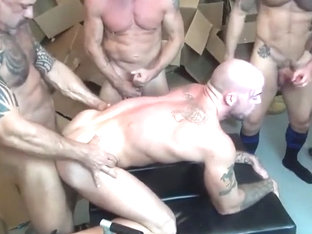 Exotic homemade gay video with Bareback, Gangbang scenes