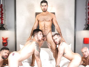 Allen Lucas & Colton Grey & Diego Sans & Sean Duran & Tristan Jaxx in Fugitives Part 3 - MenNetwork