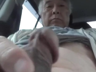 Old man erect cock exposure outdoor