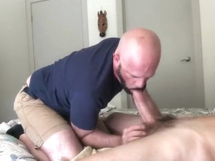handsome daddy sucks big dick grandpa