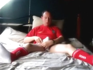 Football kit jack off on the daybed