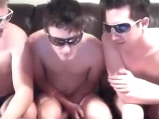 Three Boys Suck Cocks,Cum On Each Other Mouth,Big Cocks