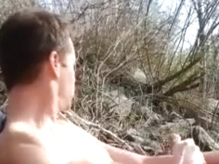 Caught Again Jerking in the Woods by the River