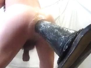 Giant dildo fucks my hot ass