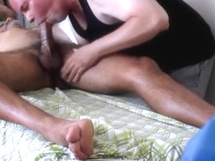 Big-Dicked Daddy's Rub-A-Dub Goes Bad.