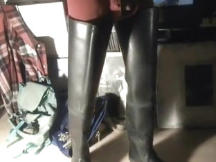 nlboots - jerking off in rubber waders, union dress, weight
