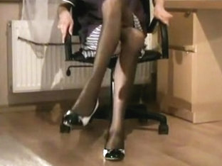 Smooth Black Pantyhose Climax