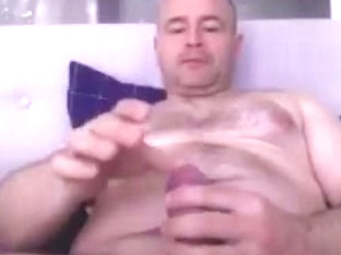 Hairy Man  Big Cock Cum