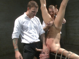 Muscled jewel thief has his uncut cock edged with the Mouth of Anubis