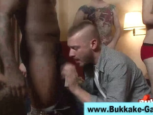Cock sucking gay dude bukkaked