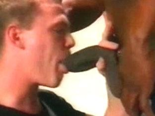 Dark boy-friend copulates white homosexual taut anus