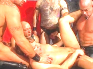 Best male pornstars Brad Benton, Max Paxx and Joe Romero in hottest gangbang, bondage homo sex vid.