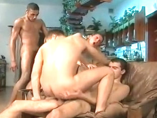 Exotic male in hottest blowjob, twinks gay adult clip