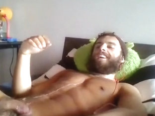 Amazing male in incredible handjob, fetish gay sex movie