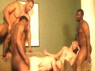 Fabulous male pornstars Aron Ridge and Black Hawk in crazy interracial, big dick gay sex video