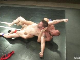 NakedKombat Two HOT Muscle Men Duke it Out