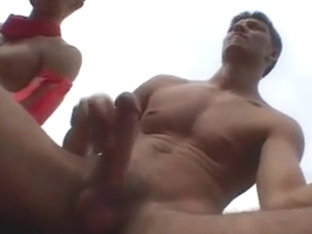 A kinky tribe of gay hunks is having fun in the outdoor