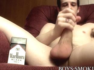 Brian Strowkes in Deviant twink Brian Strowkes smokes and strokes like a pro - BoysSmoking