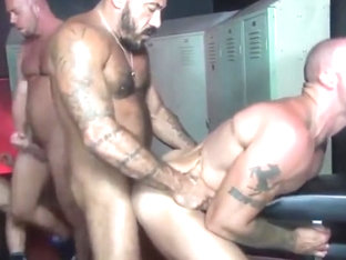 Amazing homemade gay movie with Group Sex, Bareback scenes