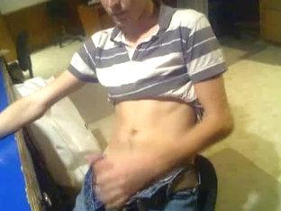 Hot immature boy strokes big cock on cam