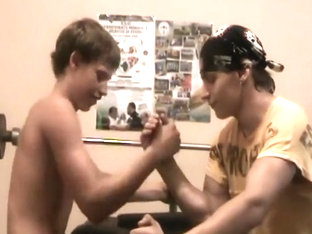 Russian teen arm wrestlers