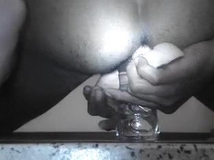 Enfiando Marital-Device, e garrafa