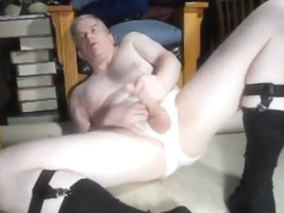 Dad jerking off in briefs