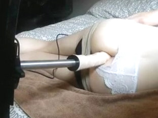 Anal stretched by a machine