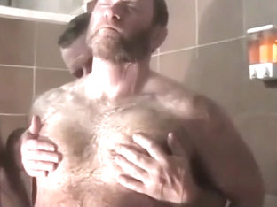 bear daddy goes to gym shower