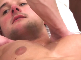 01423 Hunky Straight Rugby Stud Drew Daniels gets Manhandled and Wanked to Cum Shot