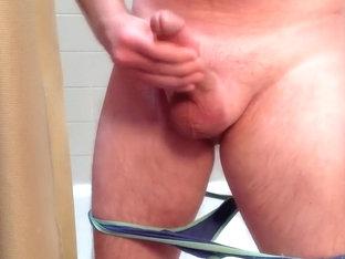 Wearing and cumming on my ex-girlfriend's panties