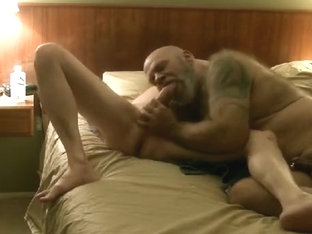 Sucking, riding and being pounded bare by a big thick cock