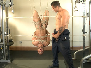 The Creepy Handyman Torments The Gym Stud