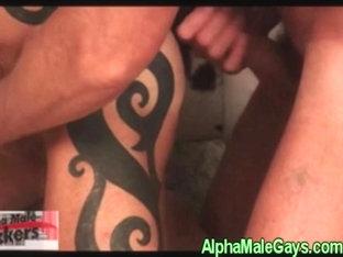 Gay group rimming fun with three hunks