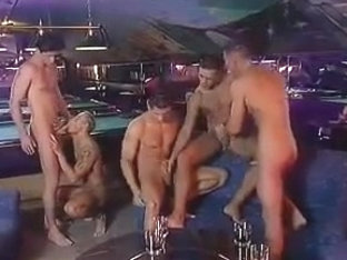 Five Males Fucking at Club