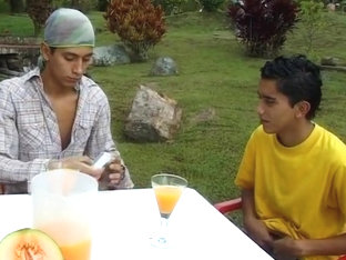 Latino boys fucking bareback outdoor