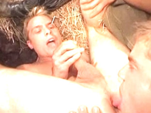 Horny male pornstar in fabulous tattoos, blowjob homosexual sex movie