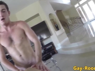 Muscled jock pov assfucks buddy