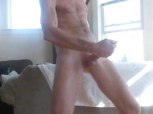 Exhibitionist dad jerking off