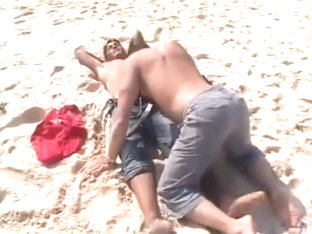 Arab beachboy fucks european on the beach