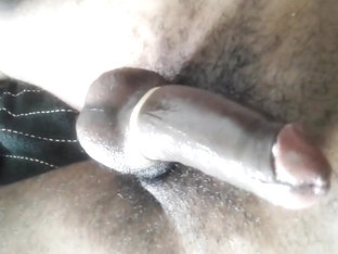 Pumped hard  black meat drips   oozing out sperm...